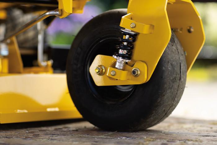 Les roues à suspension individuelle assurent une conduite douce avec moins de vibrations